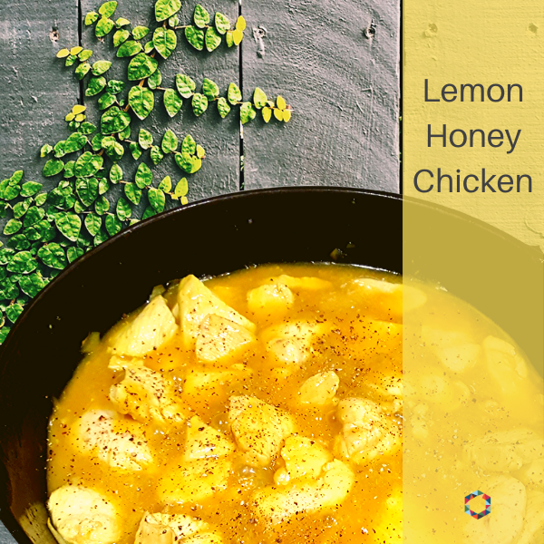 Dish of lemon home chicken
