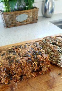 Seriously satisfying seedy bread, gluten free, dairy, free, plant based vegan
