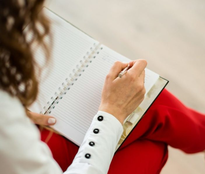 Woman with a journal